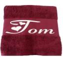 La serviette de bain personnalisée Bordeaux