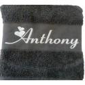 La serviette de bain personnalisée Gris