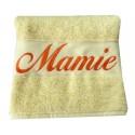 La serviette de bain personnalisée Vanille