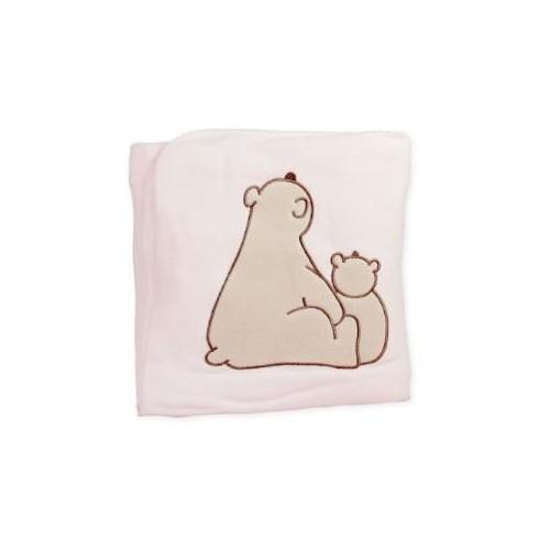 Couverture polaire 2 ours personnalisée