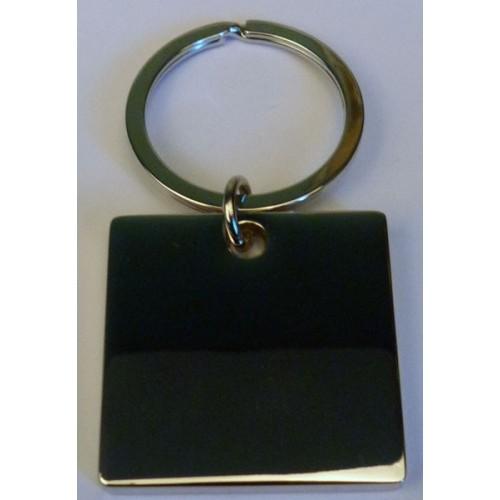 Porte clés gravé carré