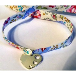 Bracelet Liberty gravé coeur en Argent