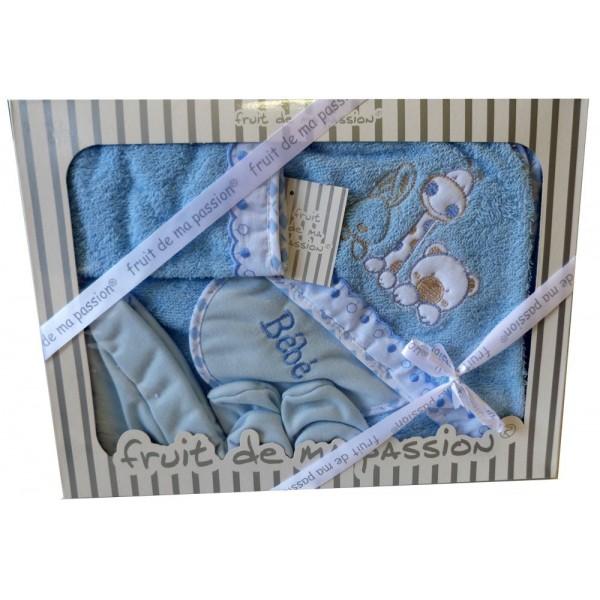 sortie de bain bebe personnalisee parure de bain b b. Black Bedroom Furniture Sets. Home Design Ideas