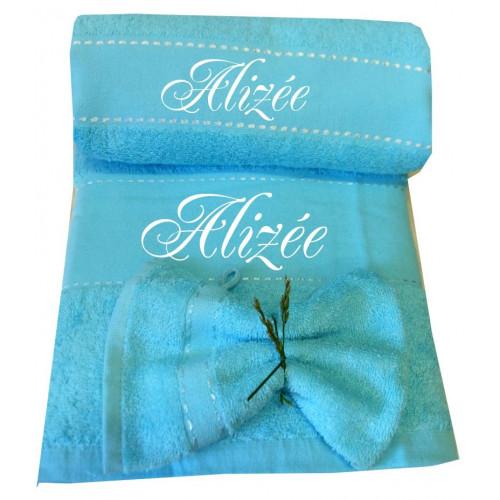 Coffret drap de bain + serviette personnalisés