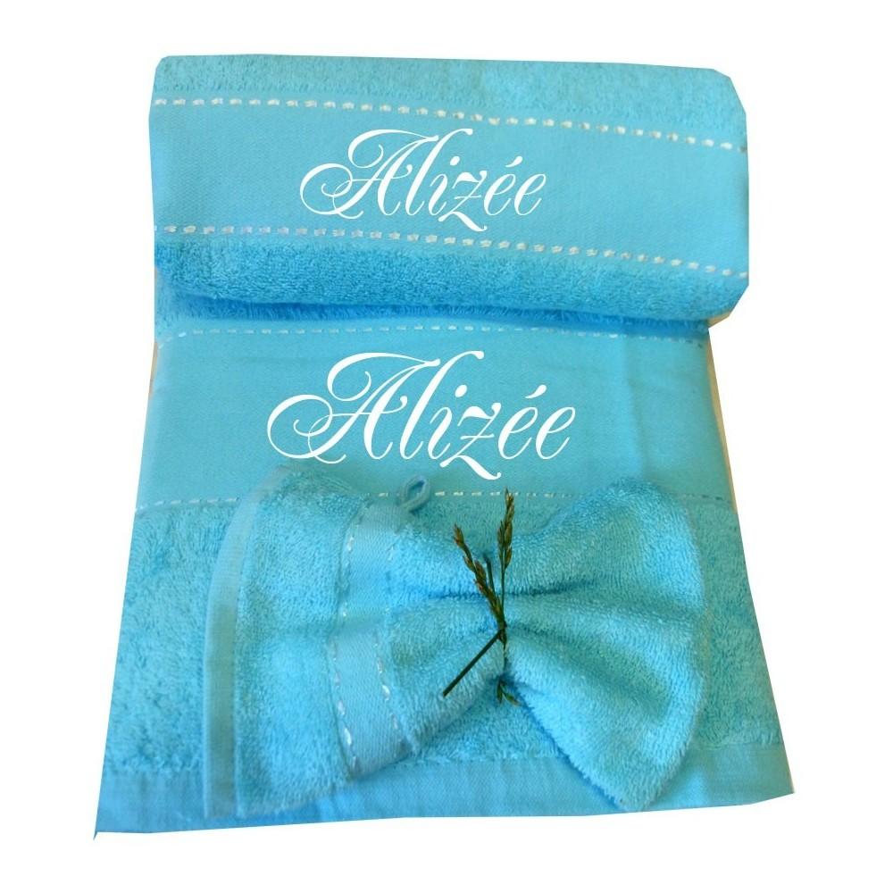Coffret drap de bain serviette personnalis s brody floky - Serviette de bain carrefour ...