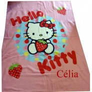 Couverture Hello Kitty personnalisée