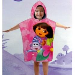 Poncho de bain enfant personnalisé (modèle fille)