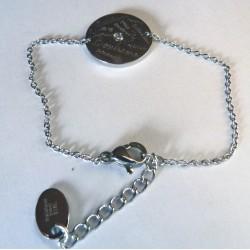 Bracelet gravé en Acier