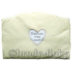 Tour de lit bébé personnalisé écru