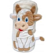 Couverture Vache Polaire unie personnalisée