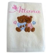 La serviette de bain bébé + gant personnalisé