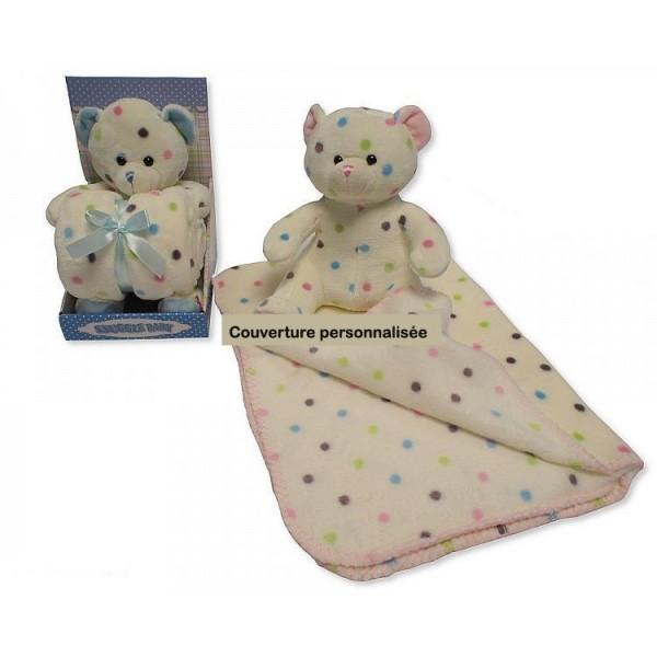 couverture polaire personnalisee bebe cadeau naissance personnalis. Black Bedroom Furniture Sets. Home Design Ideas