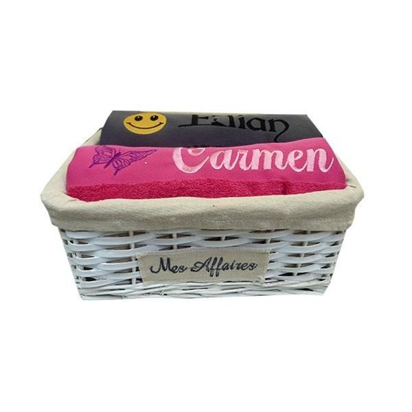 Coffret serviettes de bain personnalisé