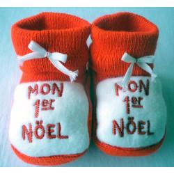 Chaussons bébé Noël