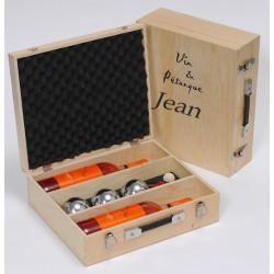 Coffret vin en bois personnalisé