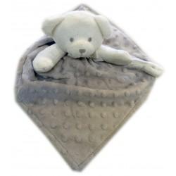 Doudou personnalisé ours gris