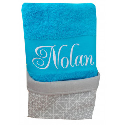 coffret serviette de toilette personnalisée