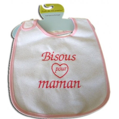 Bavoir personnalisé - Bisous pour maman