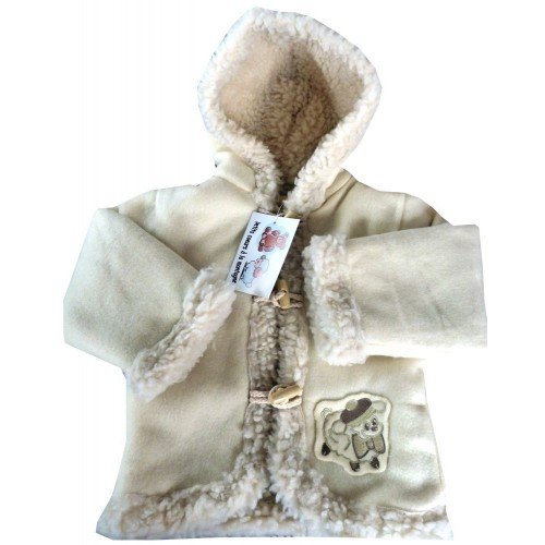 Manteau capuche bébé polaire
