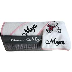 Coffret serviette de bain bébé personnalisé