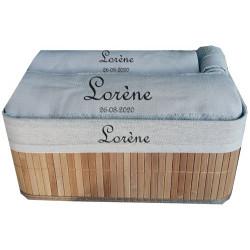 Coffret drap de bain + serviette de bain personnalisés