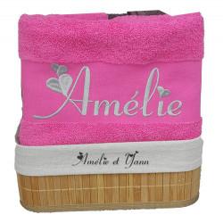 Coffret serviettes de bain personnalisées
