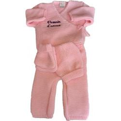Ensemble bébé en tricot personnalisé
