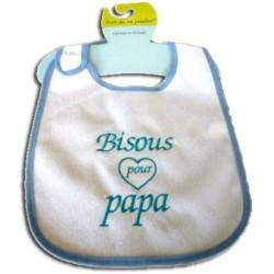 Bavoir personnalisé - Bisous pour papa