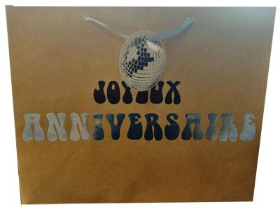 sac cadeau anniversaire GRIS