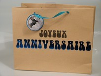 sac cadeau anniversaire bleu
