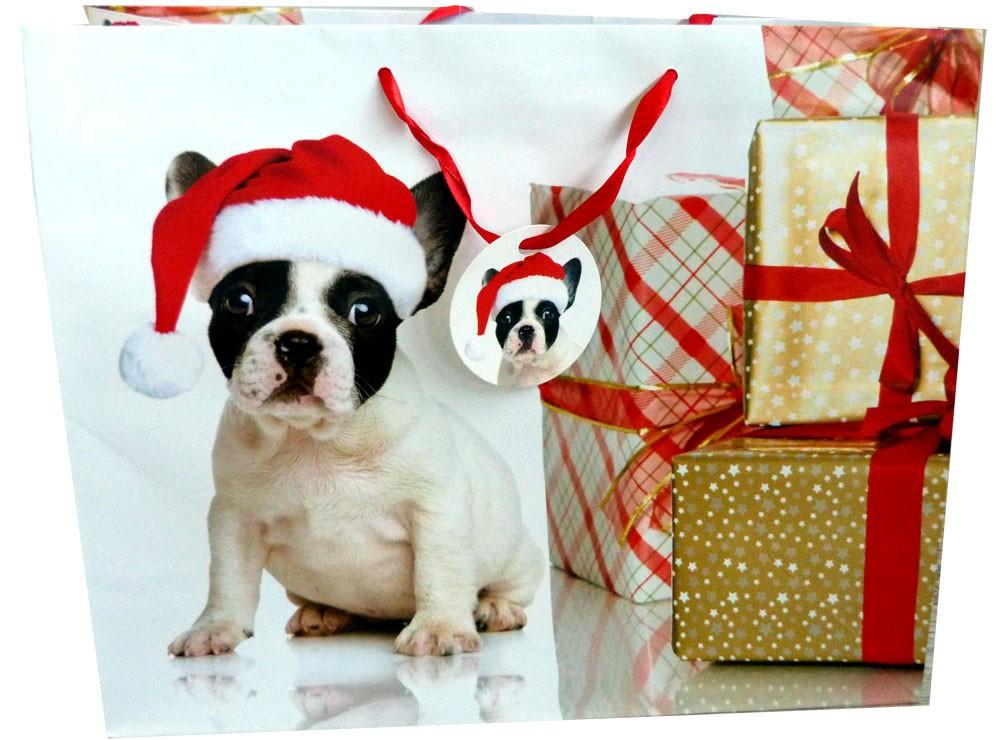Sac cadeau noel chien