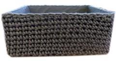 corbeille laine grise
